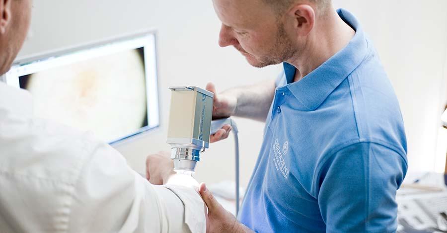 Hautkrebsvorsorge Untersuchung in München