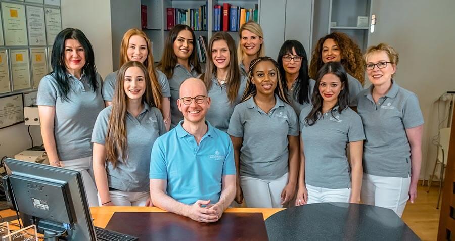 Team der Hautarztpraxis in München